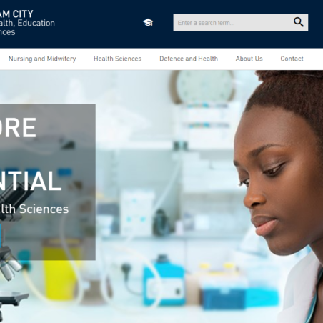 バーミンガム市立大学ホームページ画像 Image of Faculty of Health, Birmingham City University Home Page