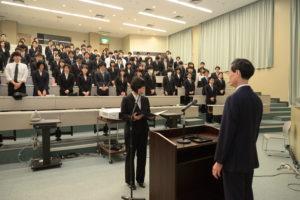 加藤さんによる宣誓