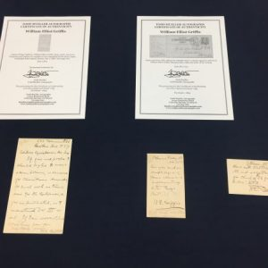 Manuscripts of William Griffis