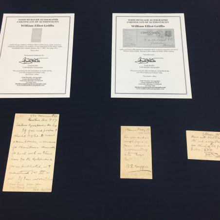 Manuscripts of William Griffis