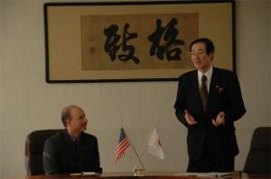 福田学長から歓迎の挨拶