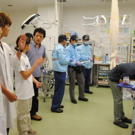 杉田玄白記念公立小浜病院での実習の様子