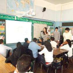 中東のバックグラウンドを持つ子どもが多い学校